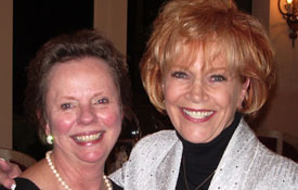 Elizabeth Peale Allen and Samantha at the Guideposts Cabinet meeting in New York City.