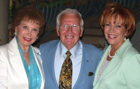 Samantha with Rhonda Fleming Carlson and her husband Darol Carlson at the Christian Celebrity Luncheon in Palm Springs, CA.