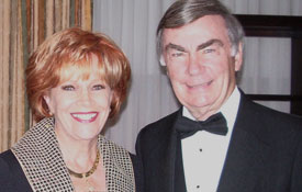 Sam Donaldson and Samantha at the Israel Gala honoring Israeli Ambassador Daniel and Anne Ayalon in Washington, DC.