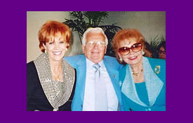 Samantha with Darol Carlson and Rhonda Fleming Carlson when Rhonda was a speaker for CCL in Indian Wells, CA