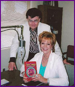 Tom Read, owner of KSPO in Spokane after an interview about her book, Savvy Singles Handbook