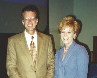Novelist Davis Bunn at the Christian Booksellers Convention in Orlando, FL
