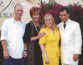 Grandson Jim Adair, Barbara Fairchild and Ray Morris in Palm Springs, CA