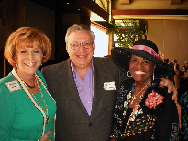 Randy Swanson and singer Lillie Knauls at the Christian Celebrity Luncheons, Rancho Mirage, CA