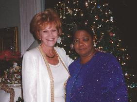 Yve Evans, Jazz Musician, after a Christmas concert in Rancho Mirage, CA