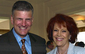 Franklin Graham and Samantha at a fund-raising dinner in Indian Wells, CA