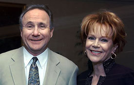 Michael Reagan and Samantha at the Media Fellowship dinner in Los Angeles, CA