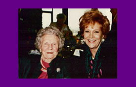 Mrs. Norman Vincent Peale and Samantha when she was the speaker for Christian Celebrity Luncheons in Indian Wells, CA