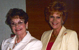Author, Speaker Ruthe White and Samantha in Palm Desert, CA
