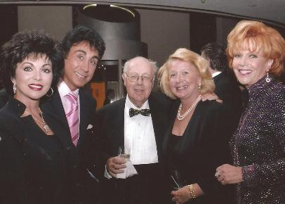 Cheryl and Dino Kartsonakis, Book Agent Arthur and Susan Green at Mrs. Norman Vincent Peale's 100th birthday party.