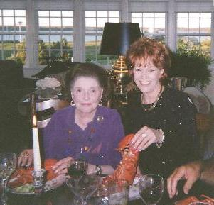 Lobster dinner with Actress Patricia Neal in Cape Cod, MA