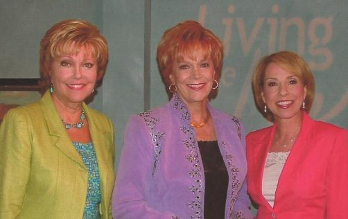Terry Meeuwsen and Louise Du Art, hosts of Living the Life TV show when Samantha was interviewed in Virginia Beach, VA
