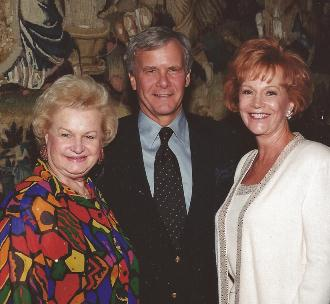 """The Three Kids from South Dakota,""  Mrs. Alby Moore and Tom Brokaw at the Bob Pond Charity Benefit in Palm Springs, CA"