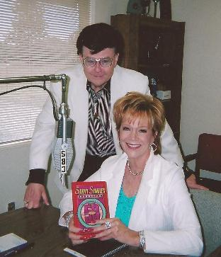 Tom Read, owner of KSPO in Spokan after an interview about her book, Savvy Singles Handbook
